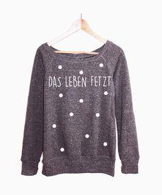 Sweatshirts - Sweater Konfetti Punkte Triangle Hipster Vintage - ein Designerstück von KitschUndKrempel bei DaWanda