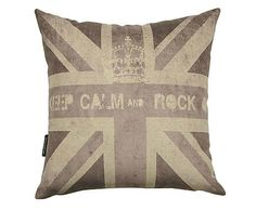 Almofada keep calm and rock on - 45x45cm