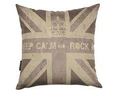 Almofada keep calm and rock on - 45x45cm