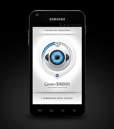 (Unofficial) Game of Thrones Media Player App Skins by Emile Rohlandt, via Behance (WorkInProgress)