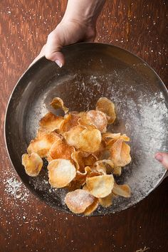 Making potato chips -- microwave instructions included. See baked potato seasoning near bottom
