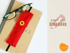 DIY Tutorial: Learn how to make this easy pencil case bookmark from felt | @onelmon