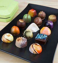 Norman Love Signature Confections, Chocolate & Sweet Baskets: Delight that special someone with a box of fifteen exceptional truffles handmade by Luxury Chocolate, Chocolate Shop, Chocolate Treats, Love Chocolate, Chocolate Truffles, Chocolate Basket, Artisan Chocolate, Cacao, C'est Bon