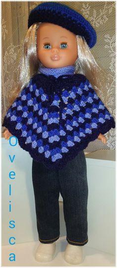 Muñeca Nancy poncho crochet