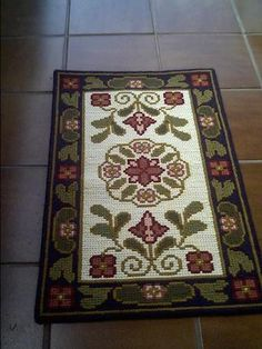 Ribbon Embroidery, Cross Stitch Embroidery, Cross Stitch Patterns, Cross Stitch House, Cross Stitch Tree, Hobbies And Crafts, Diy And Crafts, Headband Pattern, Rug Hooking