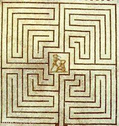 Theseus and Minotaur in the Labyrinth Ancient Greek Art, Ancient Greece, Labyrinth Maze, The Minotaur, Minoan, Greek Mythology, Crete, Animal Print Rug, Symbols