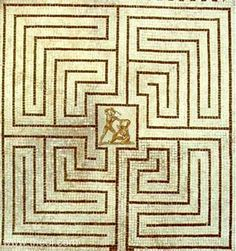Theseus and Minotaur in the Labyrinth