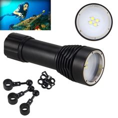 47.39$  Buy now - http://alinut.shopchina.info/go.php?t=32705740018 - 2017 W40VR D34VR Diving Photography Underwater Video LED Flashlight Torch 4x White Cree XM-L L2 LED Power Supply 1*26650 Battery  #magazineonline