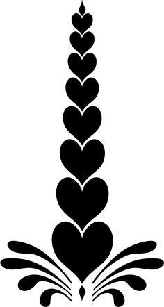 Stencil de corazones