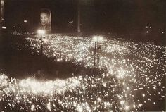 Funeral of Evita (Eva Perón), Argentina's First Lady, in Buenos Aires, attended by nearly 3 million people, 1952.