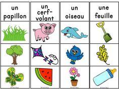 Printemps - jeu d'association #1 - French Spring Clip Cards
