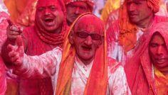 Oldy enjoying HOLI Holi Dance, Princess Zelda, Color, Newspaper Headlines, Colour, Colors