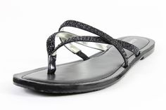 Alfani Pirsey Black Sandals