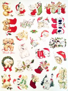 Ruth Morehead Christmas animal stickers