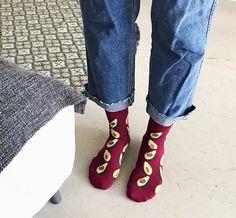 Price: $15.90 (6pairs) & FREE Returns Avocado CREW Socks Pack of 6pairs Banana Cherry Avocado Pineapple #wear#abocado#fashion#socks