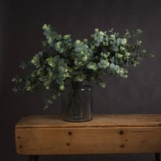 7.95gbp Eucalyptus Spray — The Recipe Faux Flowers, Real Flowers, Banana Leaf Tree, Vase With Branches, Eucalyptus Branches, Hill Interiors, House On A Hill, Tall Vases, Green Materials