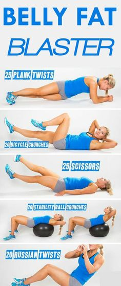 Belly fat burning exercises for flat stomach
