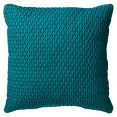 Room Essentials® Solid Textured Toss Pillow -offers Teal, Gold, or Orange Home Living Room, Living Room Decor, Bedroom Decor, Bedroom Interiors, Master Bedroom, Red Throw Pillows, Toss Pillows, Accent Pillows, Pillow Inspiration
