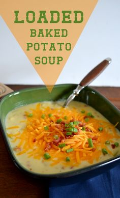 Loaded Baked Potato Soup. Made this tonight and it was FANTASTIC! Just a warning, the recipe is HUGE so half it if you aren't feeding a lot of people. @Mary Powers Powers Kay Reschke