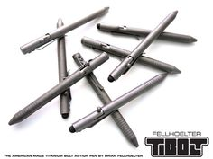 TiBolt - The American Made, Titanium, Bolt Action Pen by Brian Fellhoelter, via Kickstarter.