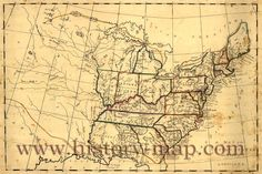 Maps From 1800 | United States in Early 1800's