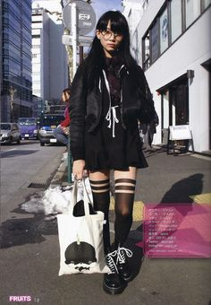 Clothes fruits magazine, japanese street style Do You Know How To Vacuum? Japanese Streets, Japanese Street Fashion, Tokyo Fashion, Harajuku Fashion, Punk Fashion, Japanese Street Styles, Fashion Women, Moda Punk, Harajuku Mode