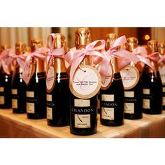 Mini Champagne Bottle Favors found on Polyvore