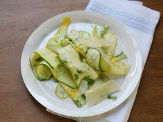 No Cook Summer Squash Salad with Lemon and Herbs from CookingChannelTV.com