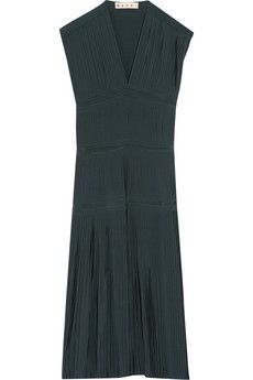 Marni Pleated silk-crepe dress | NET-A-PORTER