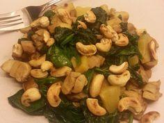 Spinazie kip met geroosterde cashewnoten | Oerkracht - Paleo, Puur & meer