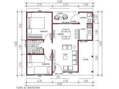 Resultado de imagen para planos casas 3 ambientes