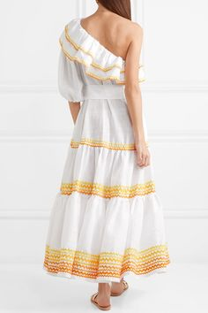Lisa Marie Fernandez | Arden one-shoulder linen dress | NET-A-PORTER.COM