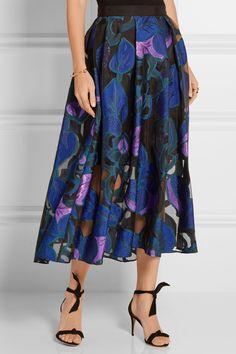 LELA ROSE Fil coupé skirt