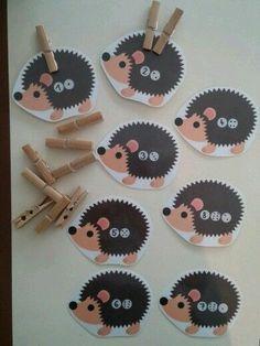 Montessori Materials, Montessori Activities, Preschool Worksheets, Maria Montessori, Autumn Activities, Activities For Kids, Toddler Crafts, Crafts For Kids, Hedgehog Craft