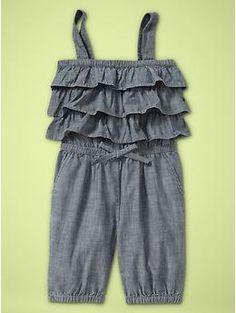 Chambray ruffle romper ... http://findanswerhere.com/kidsclothes