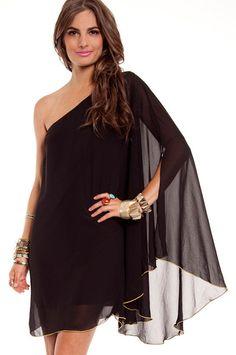 Put a Wing on It Dress - $49    So regal!