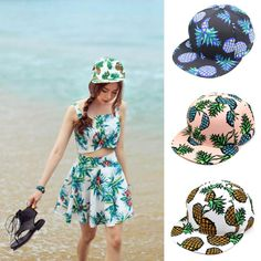 4e079046d4b baseball cap snapback hat 2017 summer Pineapple Snapback Bboy Hat  Adjustable Baseball cute Cap Hip hop Hat Unisex-in Baseball Caps from Men s  Clothing ...