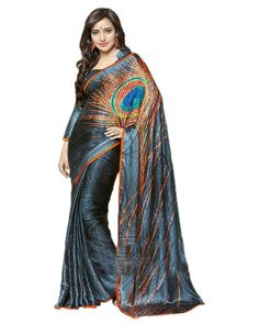 multi silk sarees: Multi silk sarees embroidered designer sarees
