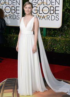 Saoirse Ronan in Saint Laurent - golden globes 2016: red carpet