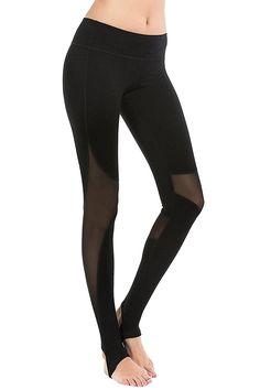 8a0510683 Stirrup Leggings See Through YA4007 Black 4 - Black-mesh Stirrup Leggings -  CA189HSI6XC