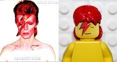 Capas de discos clássicos ganham versão em Lego - David-Bowie