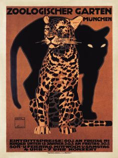 vintage zoo poster - cats