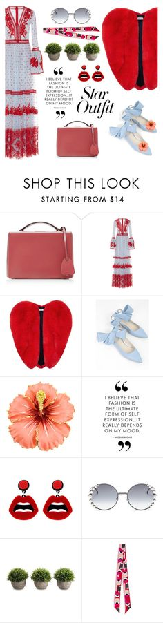"""""""Fancy that!"""" by pensivepeacock ❤ liked on Polyvore featuring Mark Cross, Costarellos, Yves Saint Laurent, Delpozo, sweet deluxe and Fendi"""