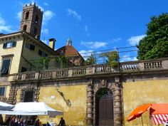 Glimpse of center of Lucca, Tuscany, Italy