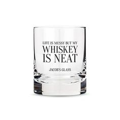 A personalized, whiskey, scotch or bourbon rocks glass with the amusing Whiskey in My Water slogan makes for a budget friendly but stylish gift for any of your guys. Wedding Gifts For Groom, Unique Wedding Gifts, Personalized Wedding Gifts, Wedding Ideas, Personalised Glasses, Whiskey Girl, Whiskey Glasses, Whiskey Drinks, Beauty Makeup