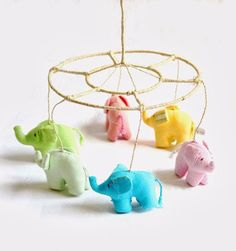 Kikoy Elephant Mobile