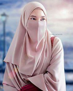 Girls picture in Hijab Hijab Gown, Hijab Niqab, Ootd Hijab, Niqab Fashion, Muslim Fashion, Girl Fashion, Hijabi Girl, Girl Hijab, Muslim Girls