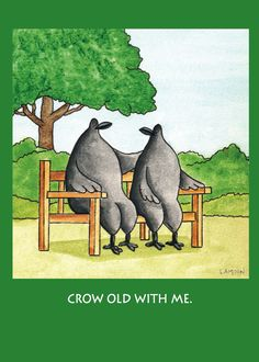 Will you Crow old with me? | Birdville Art
