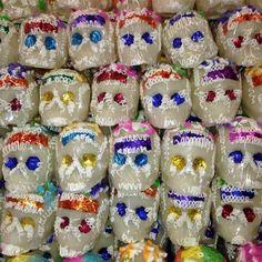 Sugar Skulls for Dia de Muertos (Day of the Dead) at MexGrocer.com/sugarskulls