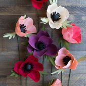 Double Sided Crepe Paper Anemone Flower - Lia Griffith